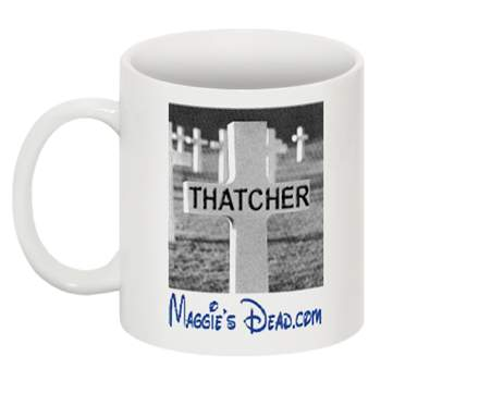 Margaret Thatcher mugs, products, chocolate, postcards, T-shirts, key rings, merchandise, products